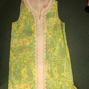 Lilly Pulitzer kids green and yellow dress